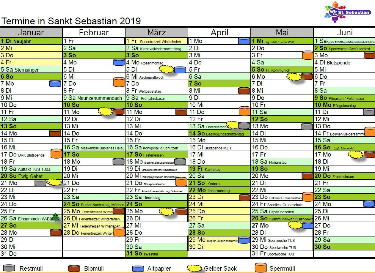 Kalender 2019